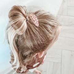 Your Little Miss Haarspelden met stof - nude shells