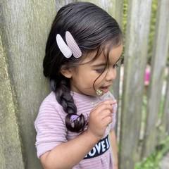 Your Little Miss Haarspelden met stof - carmandy check