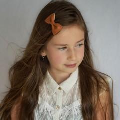 Your Little Miss Haarspeld met strik - rest leather