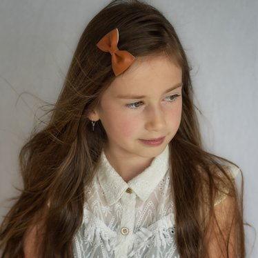 Your Little Miss Haarspeldje rust leather
