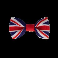 Your Little Miss Baby haarspeldje met strikje - English flag