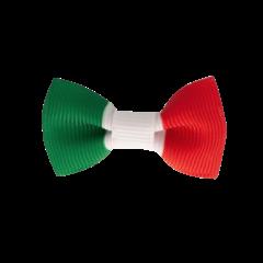 Your Little Miss Baby haarspeldje met strikje - Italian flag
