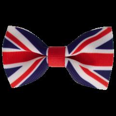 Your Little Miss Haarspeld met strik - English flag