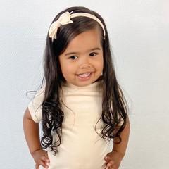 Your Little Miss Diadeem met strik - cream