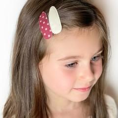 Your Little Miss Haarspelden met stof - cinnabar dots