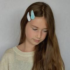 Your Little Miss Haarspelden met stof - ocean shells
