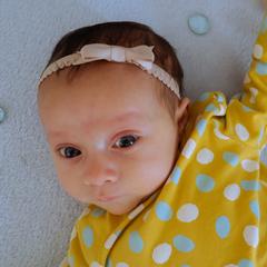 Your Little Miss Newborn baby haarbandje met kanten strik - Tan