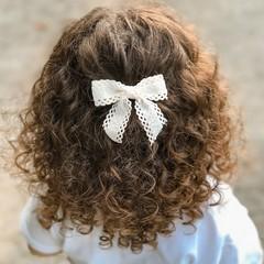 Your Little Miss Haarspeld met dubbele strik - coconut lace