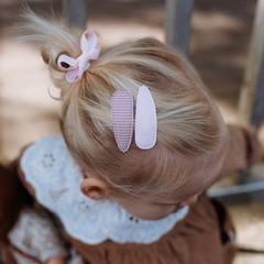 Your Little Miss Haarspelden met stof - pink check