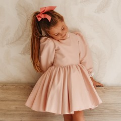 Your Little Miss Haarelastiek met grote strik - soft pink linen