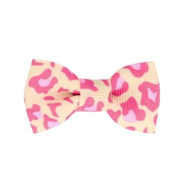 Your Little Miss Baby haarspeldje panterprint roze met strik