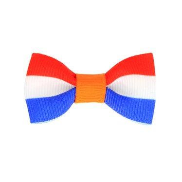 Your Little Miss Koningsdag baby haarspeldje rood wit blauw met oranje