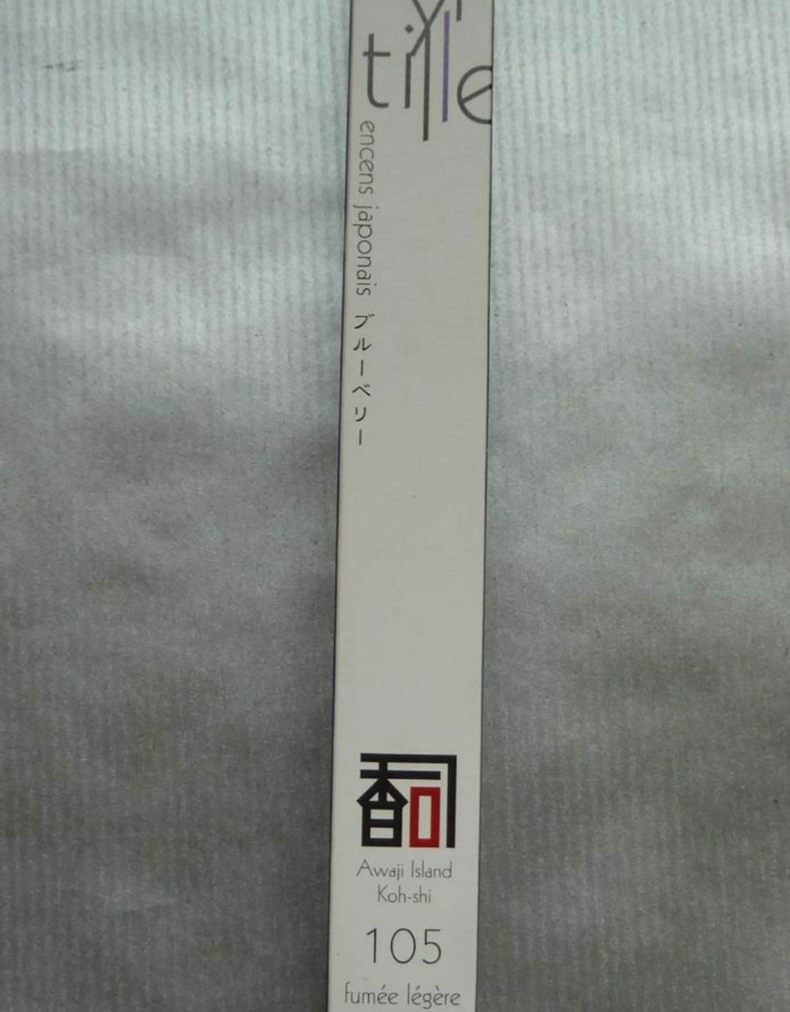 Awaji Island Koh-shi Japanse wierook Blauwe bes (105) (weinig rook)