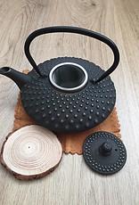 Gietijzeren theepot traditioneel zwart (0,8 of 1,20 liter)
