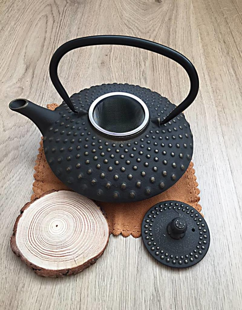 Cast iron teapot traditionally black