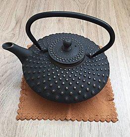 Gietijzeren theepot traditioneel zwart 1,2 liter