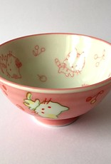 Rice bowl Kawaii cat pink