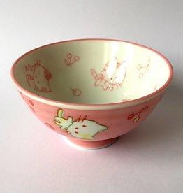 Tokyo Design Studio Rice bowl Kawaii cat pink
