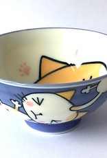 Tokyo Design Studio Rijstkommetje Kawaii kat blauw