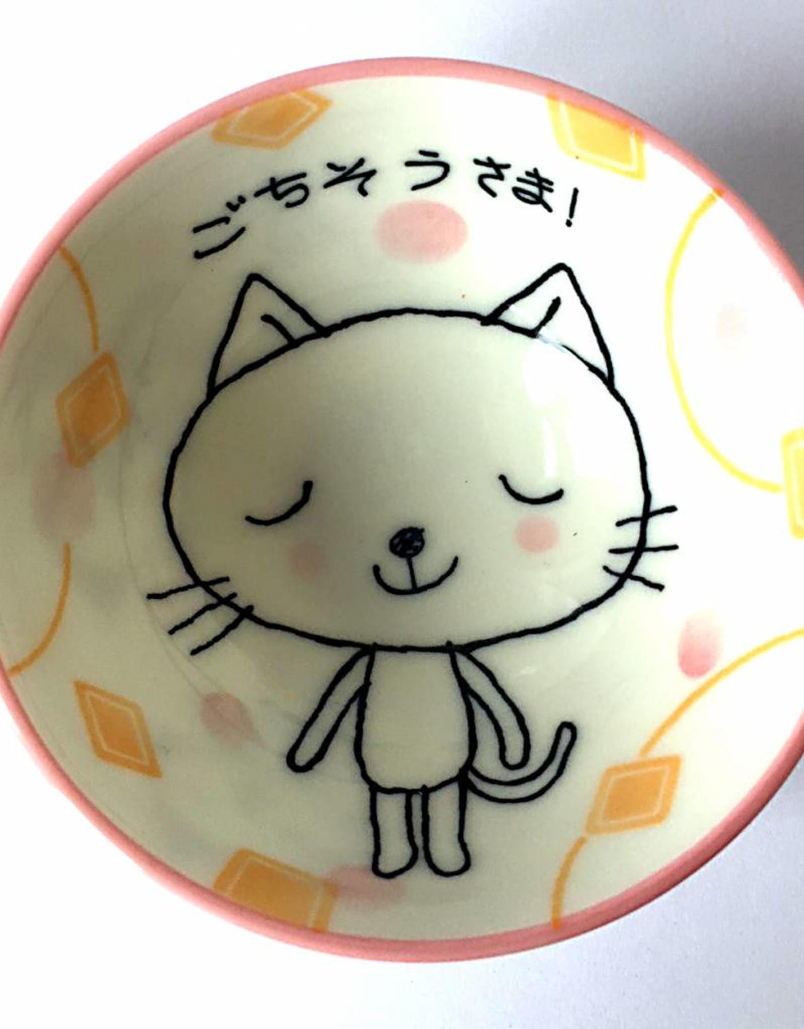 Tokyo Design Studio Rice bowl posh cat pink
