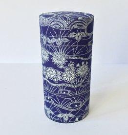 Japanese tea tin dark blue