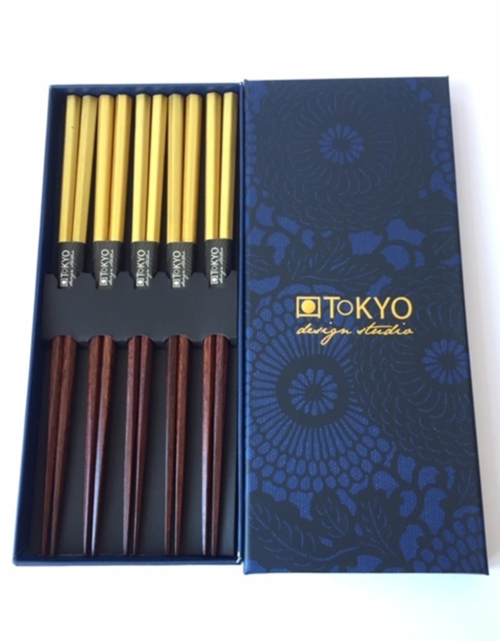 Tokyo Design Studio Japanse luxe chopsticks Goud