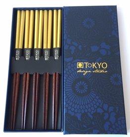 Tokyo Design Studio Japanese luxury chopsticks Gold