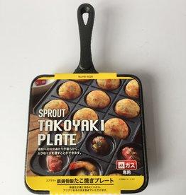Takoyaki pan (Japanese poffertjes pan) cast iron