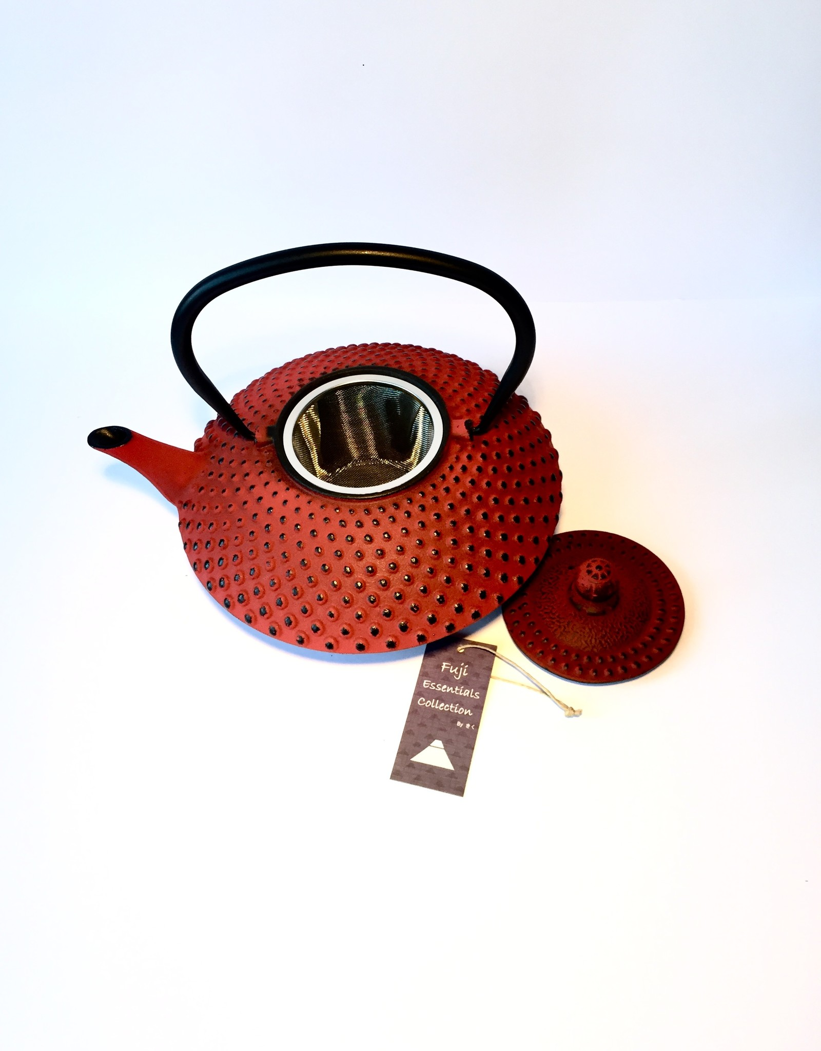Red cast iron teapot with knobs (1.20 l)