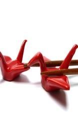 Rode kraanvogel chopsticks houder (2 stuks)