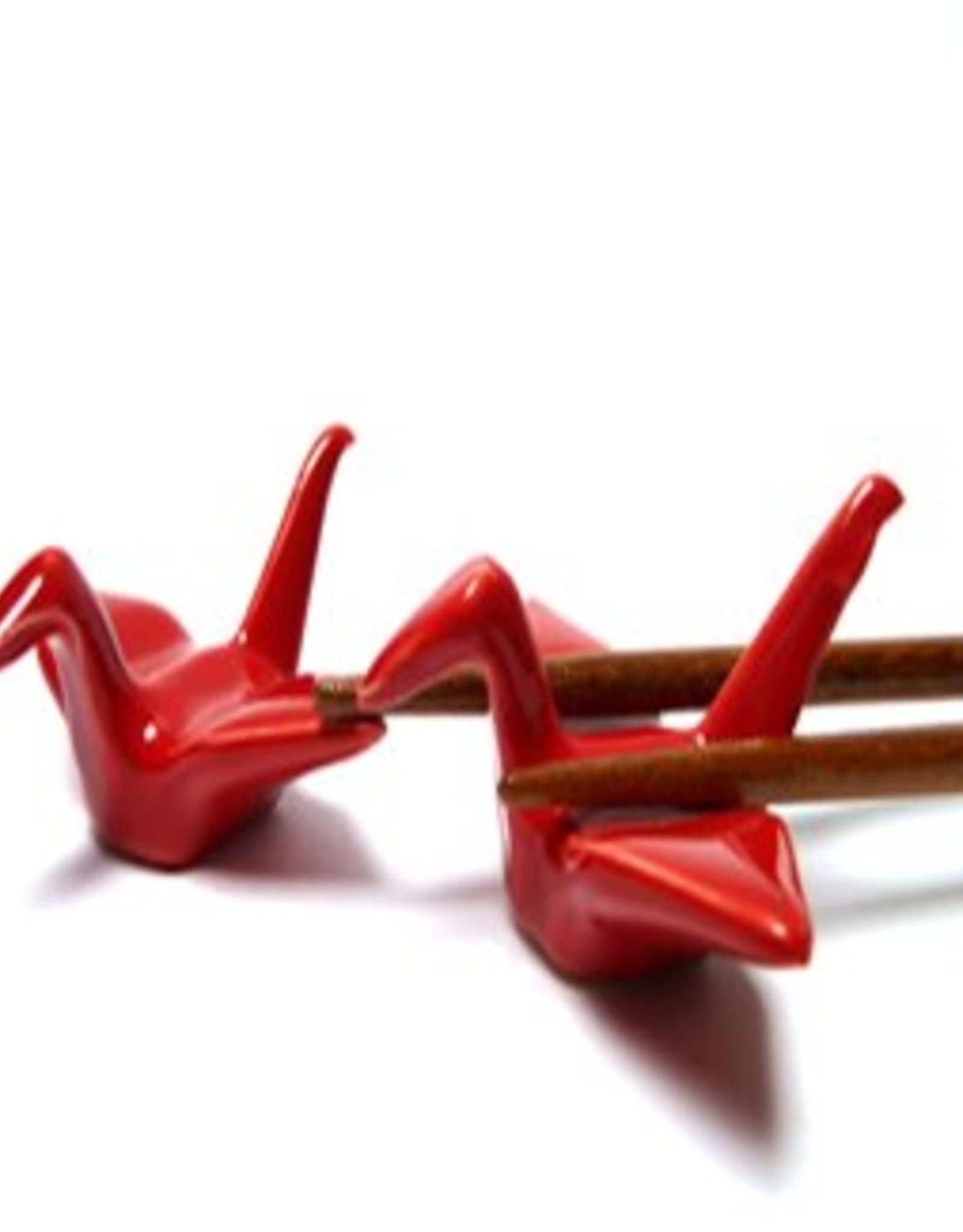 Red crane chopsticks holder (2 pieces)