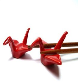 Red crane bird chopsticks holder (2 pieces)