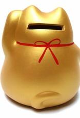 Maneki Neko (gelukskat) spaarpot goud