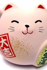 Maneki Neko (lucky cat) roze, klein