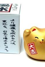 Maneki Neko (lucky cat) gold, small