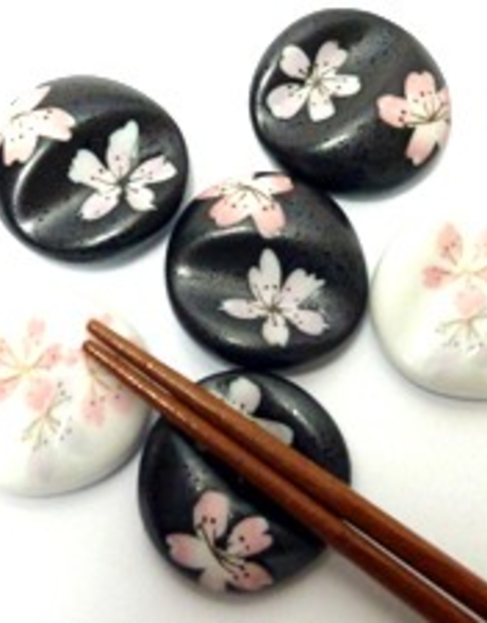 Tokyo Design Studio Chopsticks coaster Sakura black