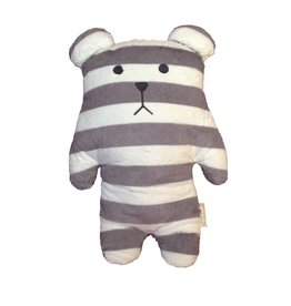 Craftholic® Cuddly toy bear Sloth gray white striped Junior