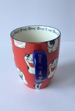 Tokyo Design Studio Kawaii Lucky Cat cup in gift box (Red)