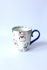 Kawaii Lucky Cat cup in gift box (White)