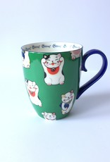 Tokyo Design Studio Kawaii Lucky Cat cup in gift box (Green)