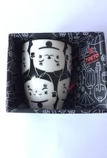 Tokyo Design Studio Kawaii Lucky Cat kopje in geschenkdoos (Zwart/wit)