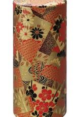 Japanese tea tin washi paper gold