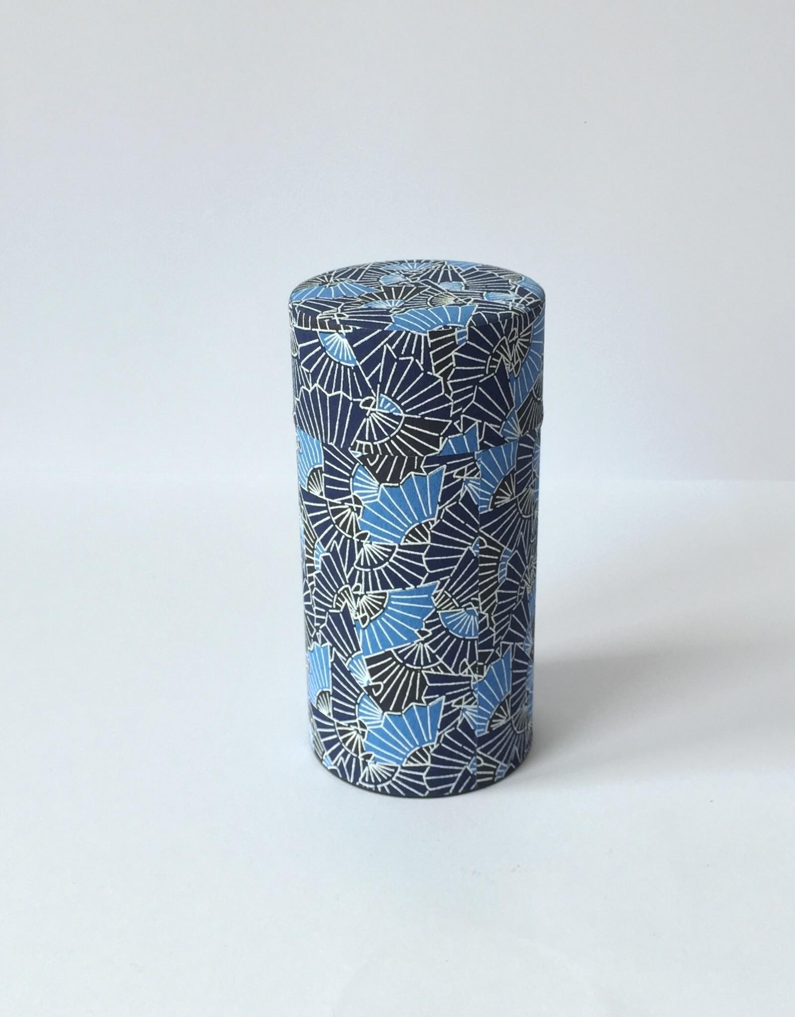 Japans theeblik washi papier blauw waaiers
