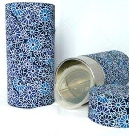 Tokyo Design Studio Japanese tea tin flowers