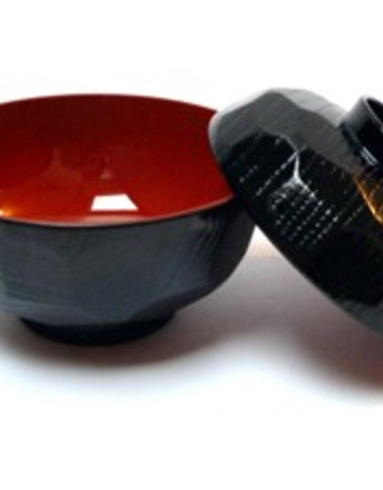 Miso soepkom zwart rood groot