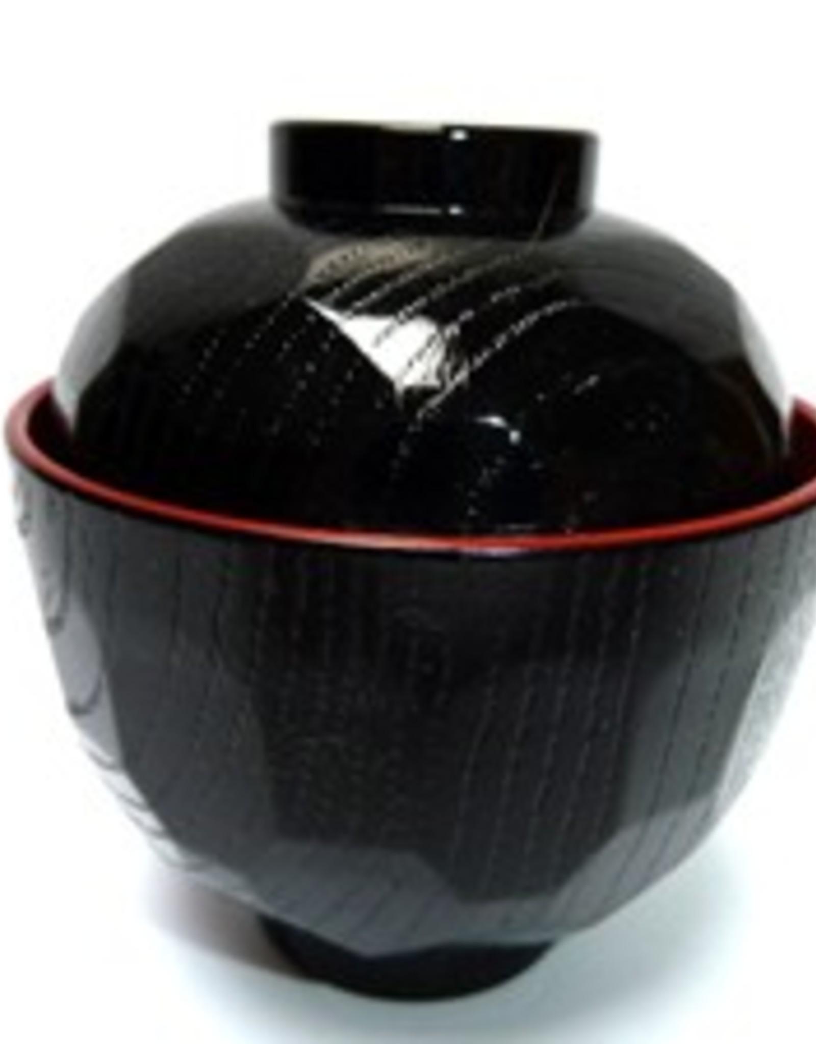 Tokyo Design Studio Miso soup bowl small black red