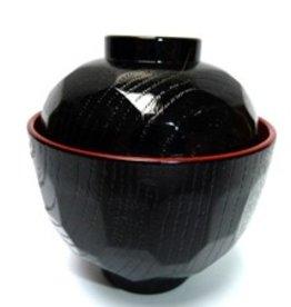 Tokyo Design Studio Miso soepkom zwart rood klein