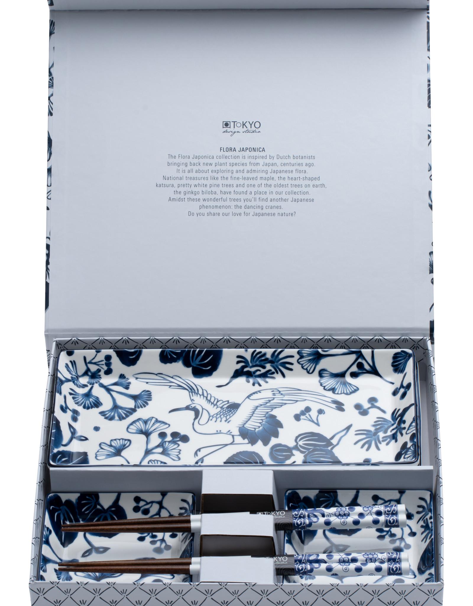 Tokyo Design Studio Crane sushi cadeauset