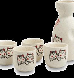 Sake set met katjes