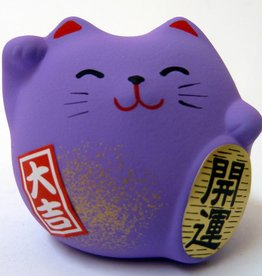 Maneki Neko purple, small